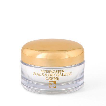 Meerwasser-Kosmetik-Präparat - Hals Dekollete-Creme